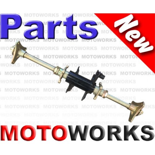 Axle Rear Axle Assembly with Carrier & Hubs 50/70/110cc