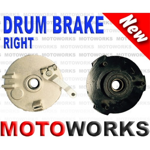 Drum Brake RIGHT 3 Stud Drum Brake Housing Wheel Hub + Shoes