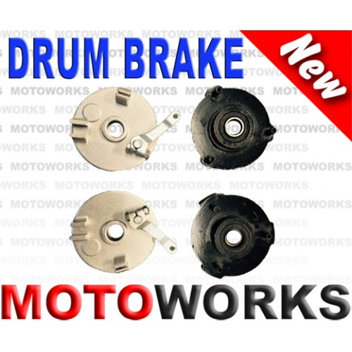Drum Brake Pair 3 Stud Drum Brake Housing Wheel Hub + Shoes