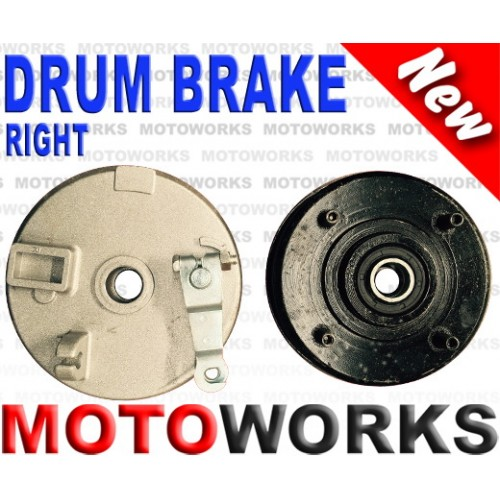 Drum Brake RIGHT 4 Stud Drum Brake Housing Wheel Hub + Shoes