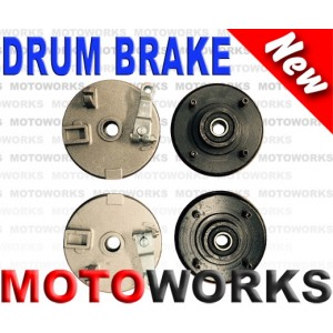 Drum Brake Pair 4 Stud Drum Brake Housing Wheel Hub + Shoes