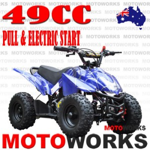 49CC SPORT BLUE ELECTRIC START ATV