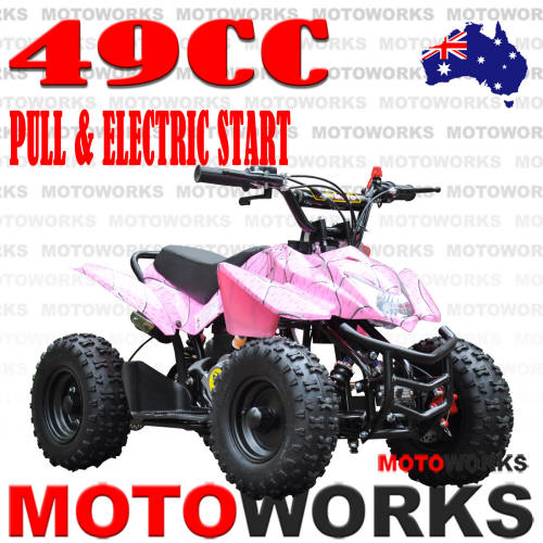 49CC SPORT PINK ELECTRIC START ATV